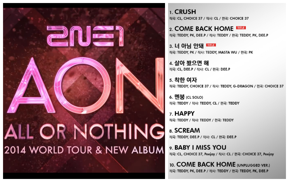 2NE1 World Tour and Album
