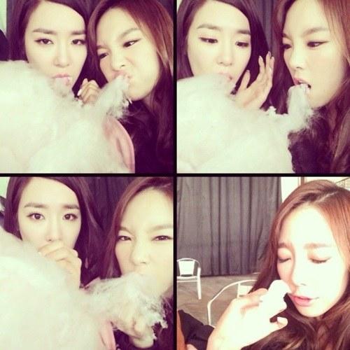 Taeyeon and Tiffanyt