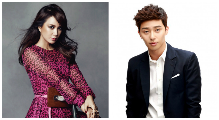 Uhm Jung Hwa and Park Seo Joon