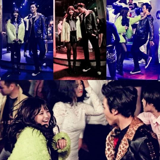 Yeo Jin Goo and Ha  Yeon Soo clubbing