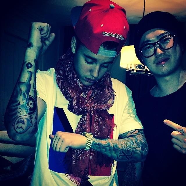 Justin Bieber's Korean Tattoos