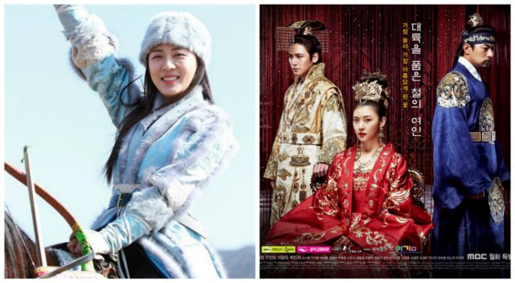 "Ha Ji Won Horse Riding on ""Empress Ki"""