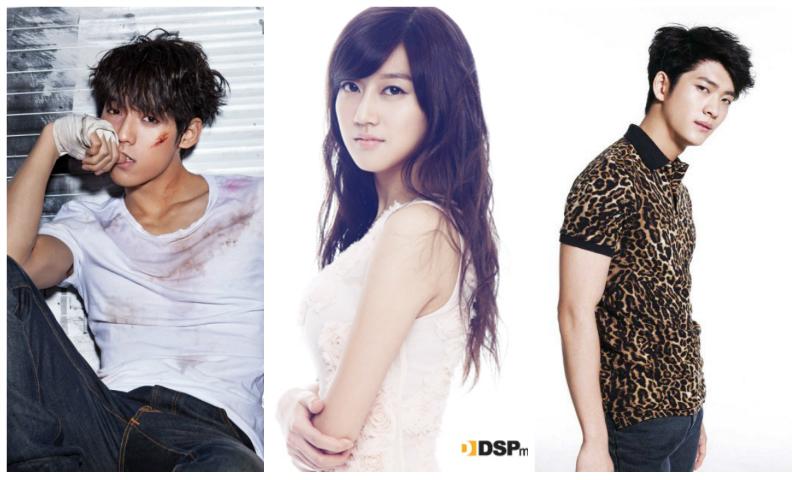 Minhyuk, Oh Seung Ah and Kang Tae Oh