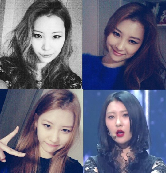 Sunmi with long and short hair