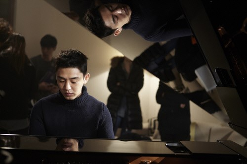 Yoo Ah In Playing the Piano