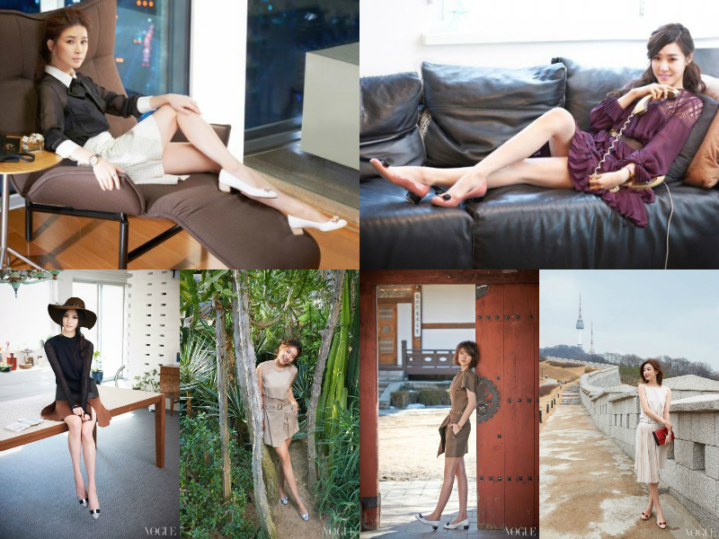"15 Gorgeous Celebrities Model ""L'icona Ferragamo"" Shoes for Vogue Magazine"