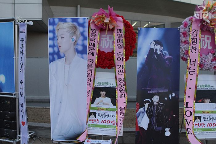 "Stands from the B.A.P ""Live on Earth"" concert in Seoul."