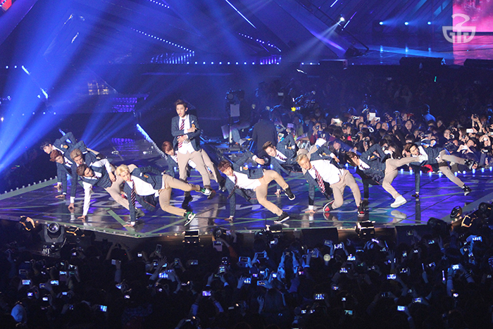 EXO dances on the main stage at last year's Melon Music Awards.