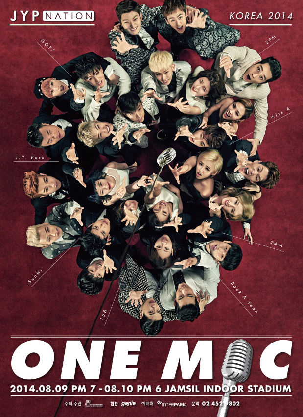 JYP NATION ONE MIC Poster