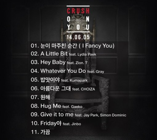 Crush On You Track List