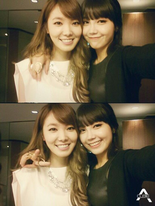 Shin Bora and Jung Eun Ji picture