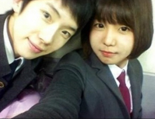Jokwon and Raina as students