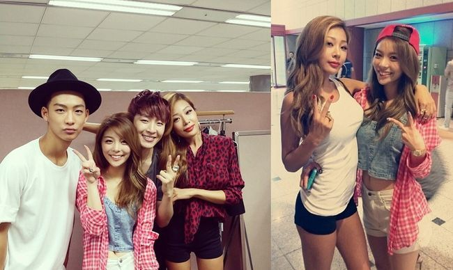 ailee supports lucky j