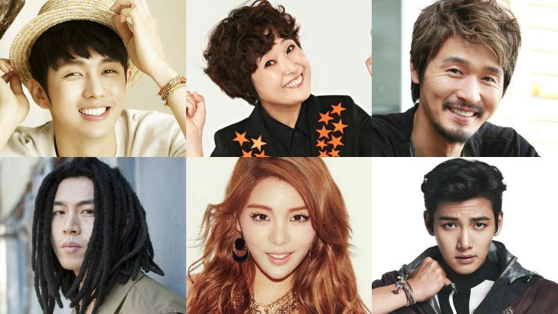 Seulong, Skull, Song Eun Yi, Lee Seong Jae, Ailee, Ji Chang Wook