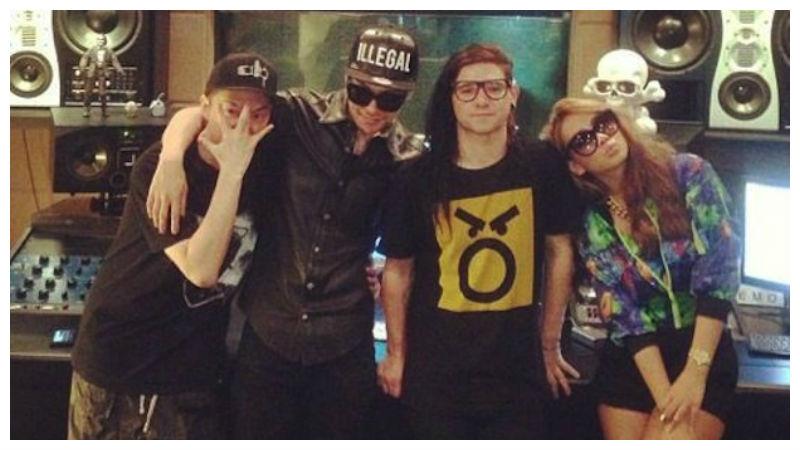 G-Dragon, CL, Skrillex