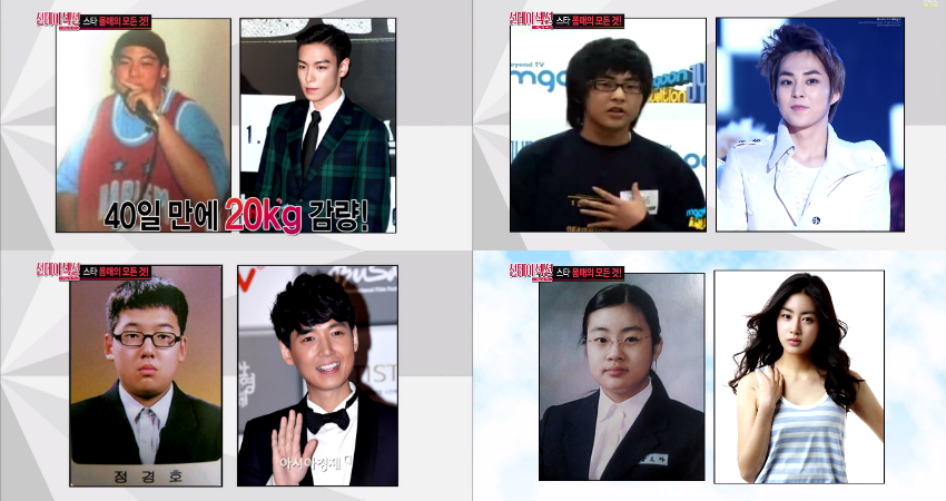 Xiumin Weight Loss Stars Before and After...