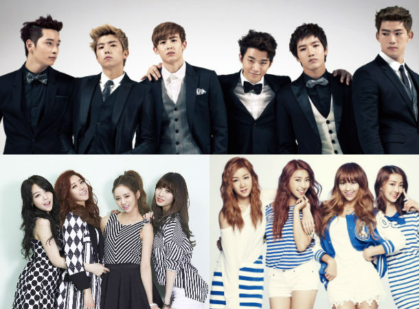 2PM, Girl's Day, SISTAR
