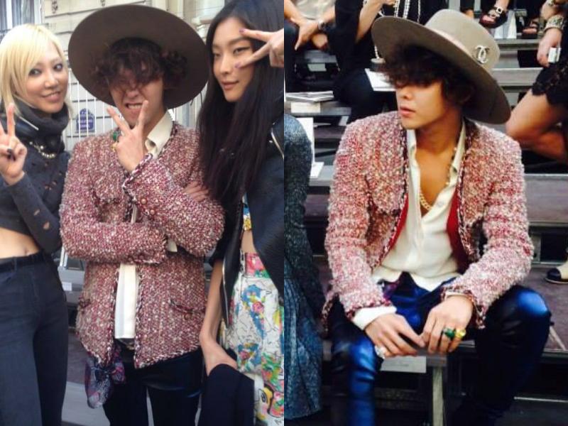 G-Dragon Hides Behind His Curls at Chanel Fashion Show ...  G-Dragon Hides ...