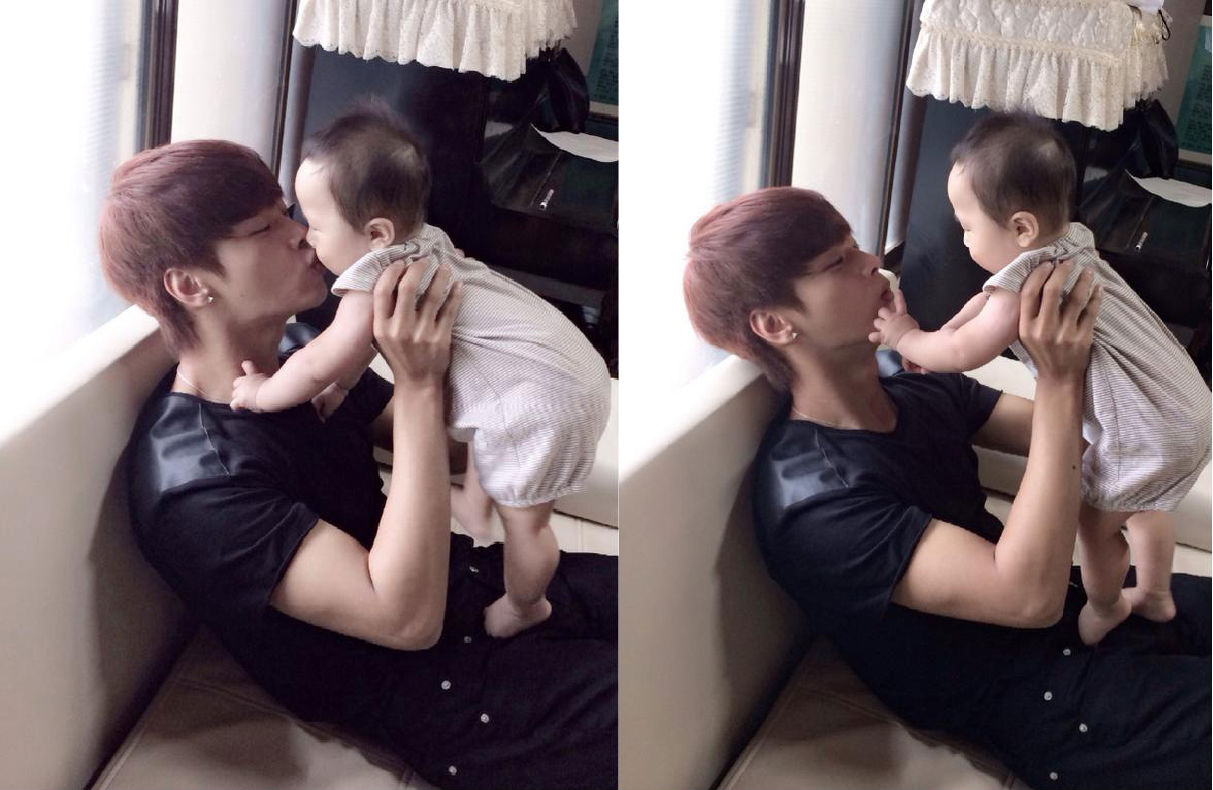 VIXX's N Gives a Sweet Kiss to His Baby Nephew | Soompi