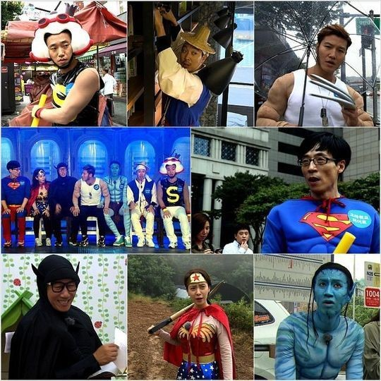 1011 running man superheroes stills