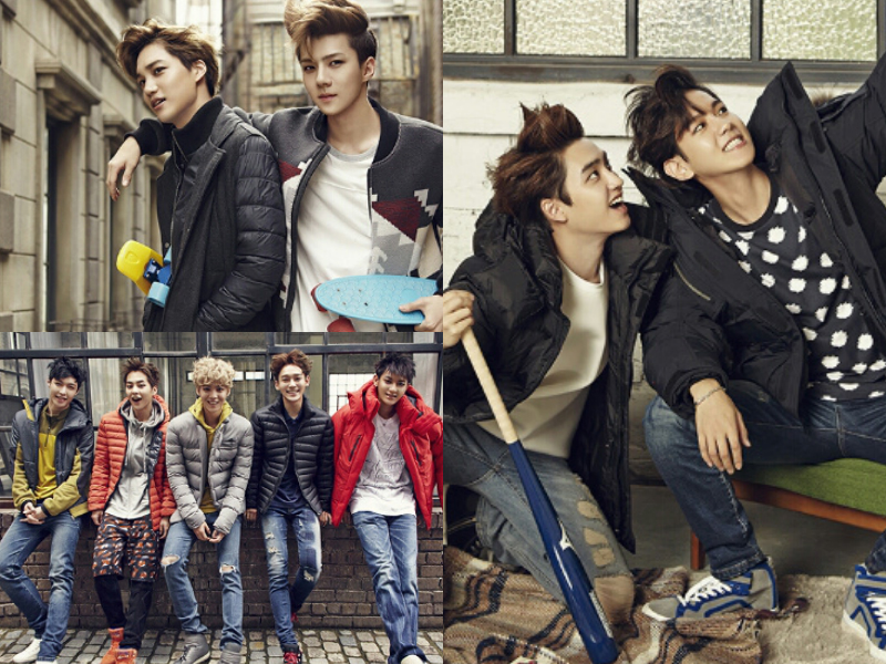 EXO Combines Playfulness and Sporty for Vogue Girl