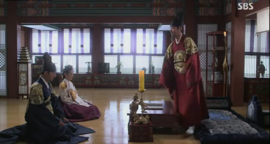 The king, prince Lee Sun and his wife