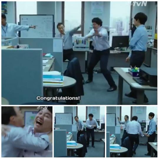 Celebrating Manager Oh - Misaeng