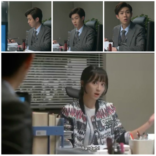 Gwang Mi tells Jang Won to text his gf he's going to be late again - Pride and Prejudice