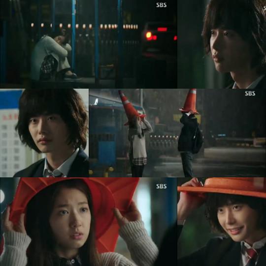 Dal Po and In Ha in the rain - Pinocchio romance