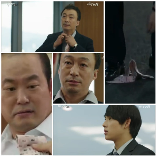 Manager Oh lends Mr Byun his tie - Misaeng