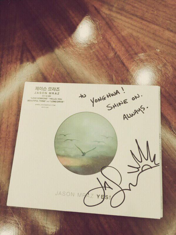 jason mraz signed cd