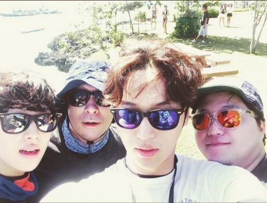 Byun Yo Han, Im Siwan, Lee Sung Min, and Kim Dae Myung together in Cebu