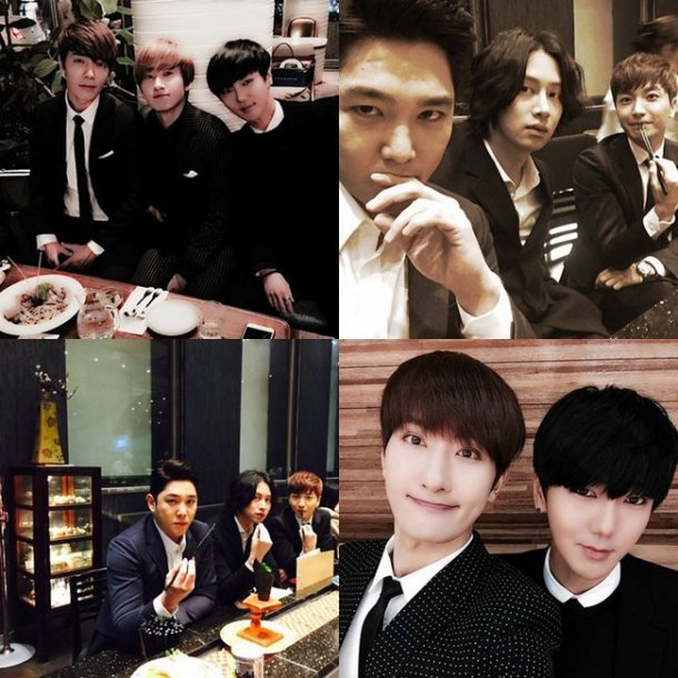 super junior members gather together to congratulate