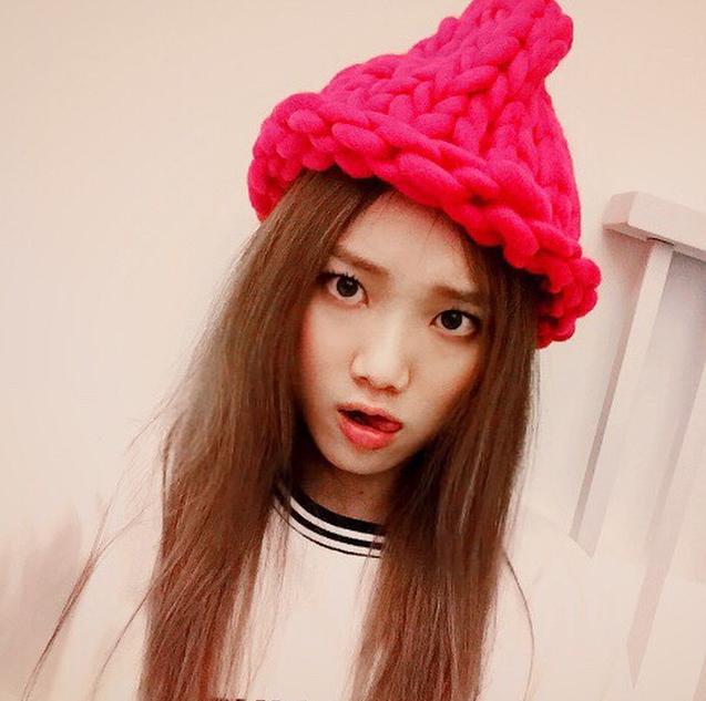 Lee Sung Kyung in the Loopy Mango Helsinski Hat