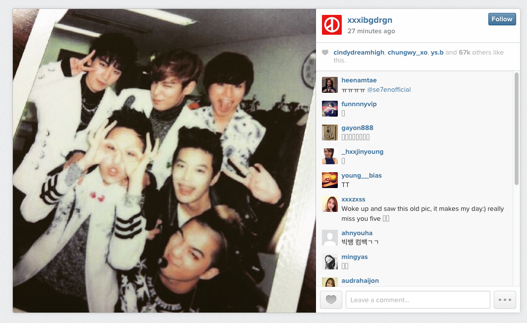 Soompi G-dragon Bigbang se7en