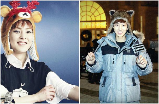 animal-hat-exo-collage-xiumin-chanyeol