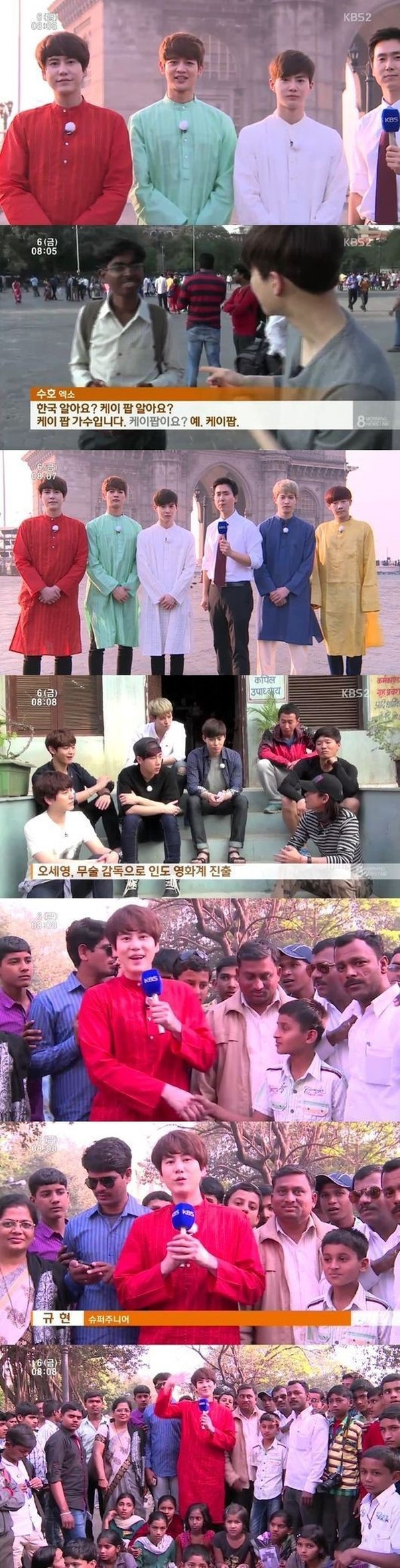 Kyu line sends greetings from india as news reporters soompi kyuline india 2 kristyandbryce Choice Image