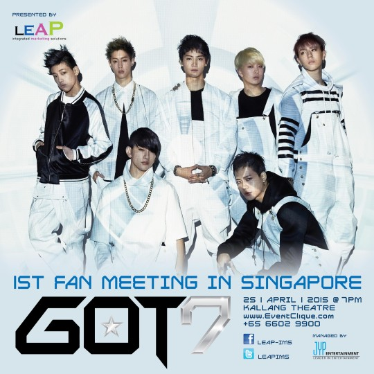 GOT7 poster Singapore Fan Meeting