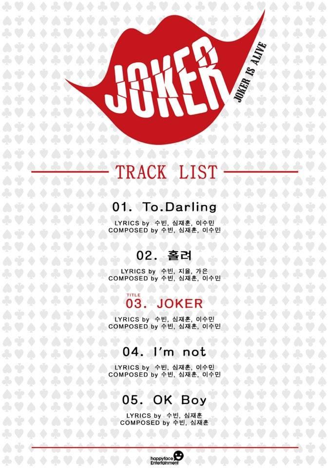 dal shabet joker is alive track list