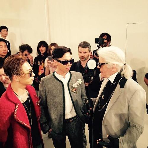 Taeyang G-Dragon Karl Lagerfeld