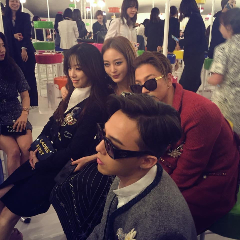 Jung Rye Won, Han Ye Seul, G-Dragon, Taeyang