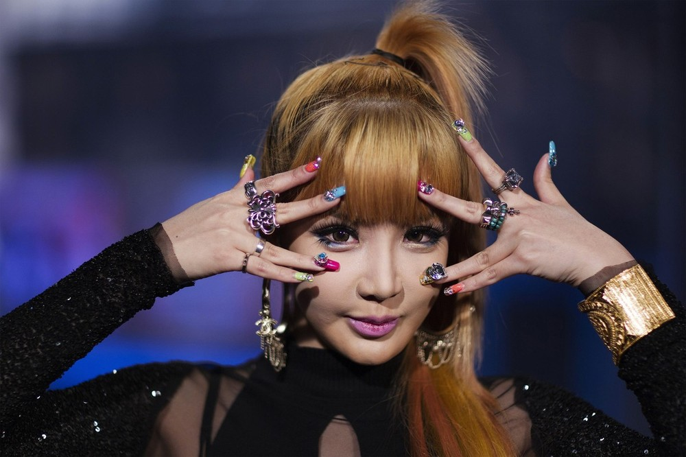 Bom, a member of the South Korean band 2NE1, poses for a portrait in New York
