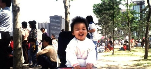 childhood lee min ho