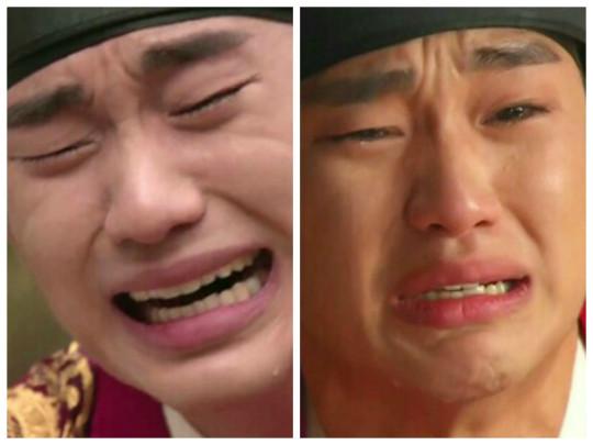 kim soo hyun crying