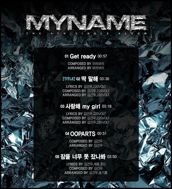 myname track list