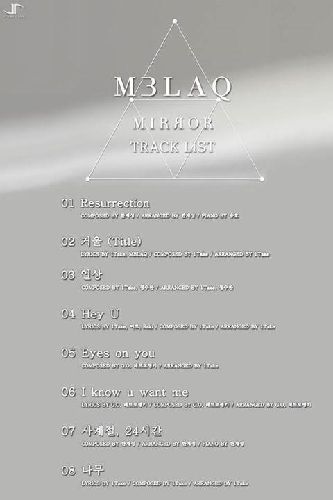 mblaq track list