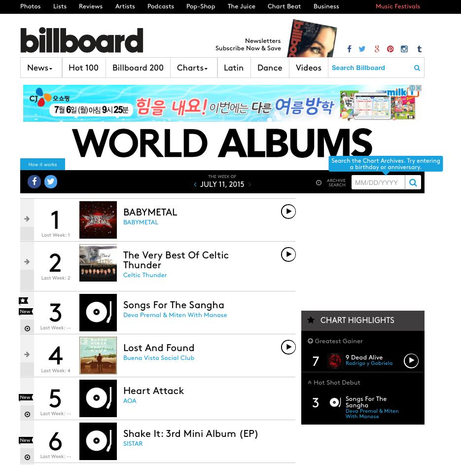 Billboard AOA