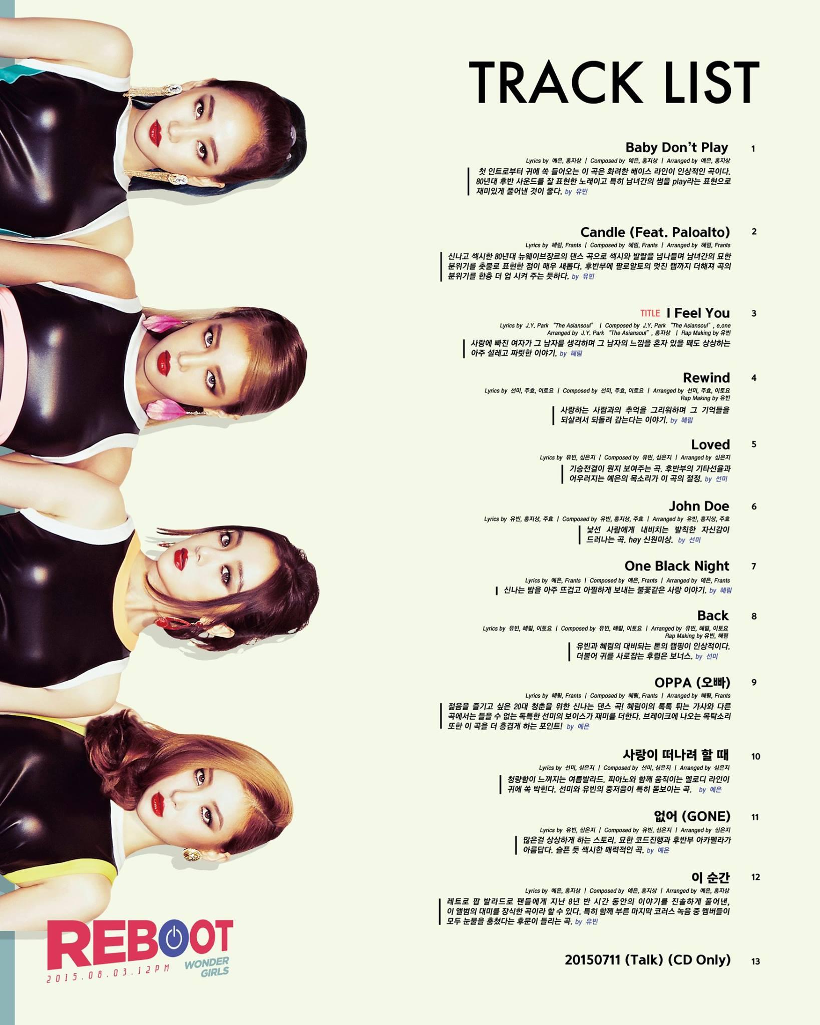 Wonder girls track list