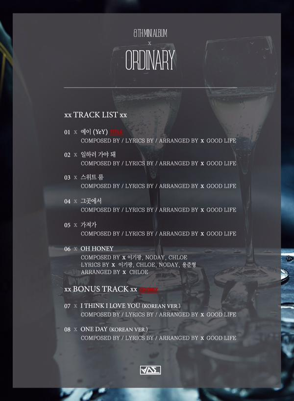 beast ordinary track list