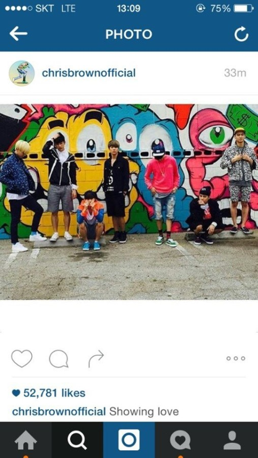 Chris Brown GOT7 Instagram